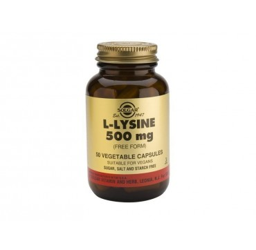 SOLGAR L-LYSINE 500mg 50vcaps