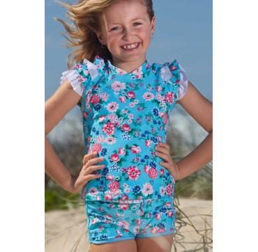 Sun Emporium Αντηλιακή Μπλούζα Με Κοντό Μανίκι Πολύχρωμη Για Κορίτσια Size 4 4-8ετων