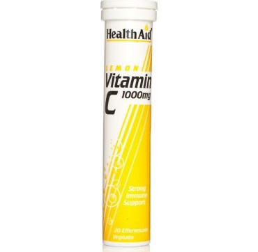 HEALTH AID VITAMIN-C 1000mg LEMON 20effer.tabs