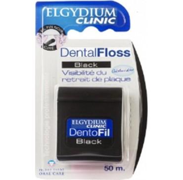 Elgydium Clinic Dental Floss Black Οδοντικό Νήμα 50m
