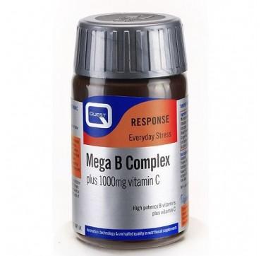 QUEST MEGA B COMPLEX + 1000mg VIT. C 30tabs