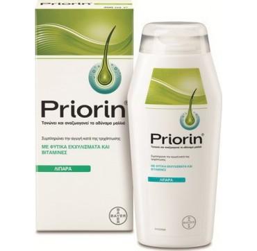 Bayer Priorin Σαμπουάν Κατά Της Τριχόπτωσης Για Λιπαρά/αδύναμα Μαλλιά 200ml