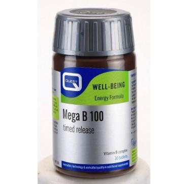 QUEST MEGA B-100 TIMED RELEASE 30tabs