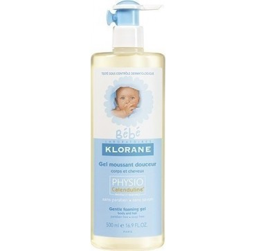 KLORANE BEBE PHYSIO GENTLE FOAMING GEL 500ml