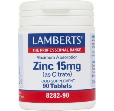 LAMBERTS ZINC 15mg 90tabs