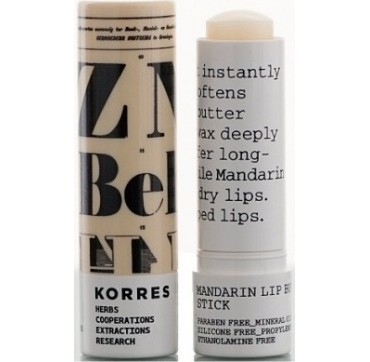 KORRES LIP BUTTER STICK ΜΑΝΤΑΡΙΙ ΑΧΡΩΜΟ spf5 5ml