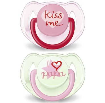 PHILIPS AVENT SCF 172/72 FASHION ΠΙΠΙΛΑ KISS ME 2τεμ. 6 - 18 μηνών