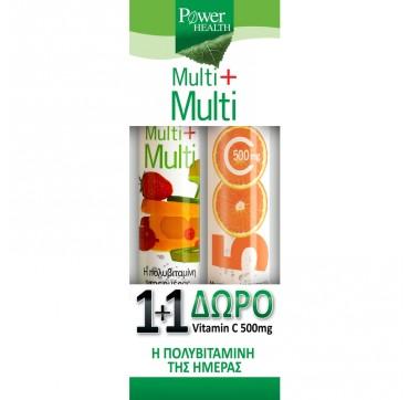 POWER HEALTH MULTI + MULTI 24effer.tabs + ΔΩΡΟ VITAMIN C 500mg 20effer.tabs