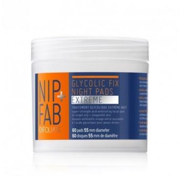 NIP+FAB EXFOLIATE GLYCOLIC FIX NIGHT PADS EXTREME 60pads