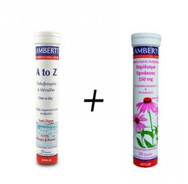 Lamberts A To Z Multivitamins 20effer.tabs + Echinacea 150 Mg 20effer.tabs
