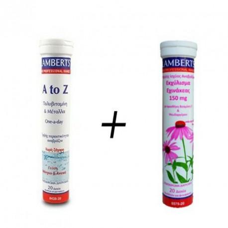 LAMBERTS A to Z MULTIVITAMINS 20effer.tabs + ECHINACEA 150 mg 20effer.tabs