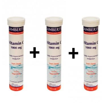 Lamberts Vitamin-c 1000mg Eff. 20tabs X 3