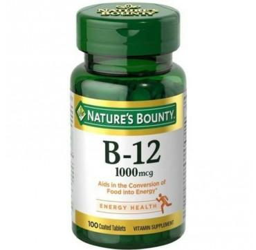 NATURES BOUNTY VITAMIN B12 1000mcg 100tabs