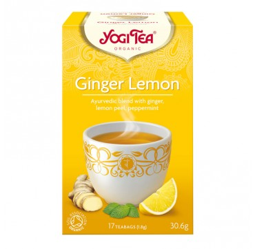 YOGI TEA GINGER LEMON 17 teabags