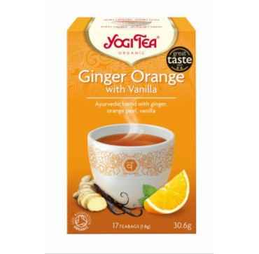 YOGI TEA GINGER ORANGE 17 teabags