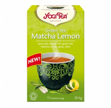 OLA-BIO YOGI TEA MATCHA LEMON 17τεμ.