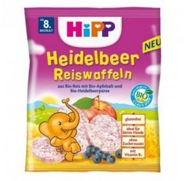 Hipp Ρυζογκοφρέτα Με Γεύση Βατόμουρο 8+ Μηνών 30g