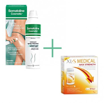 Somatoline Cosmetic Spray Αδυνατίσματος Use & Go, 200ml + OMEGA PHARMA XLS MEDICAL MAX STRENGTH 120caps