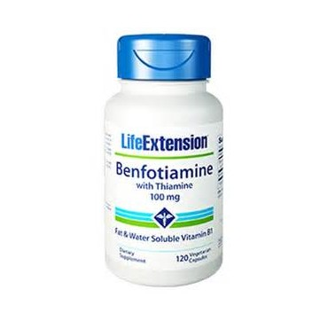 LIFE EXTENSION BENFOTIAMINE WITH THIAMINE 100 MG, 120 VCAPS