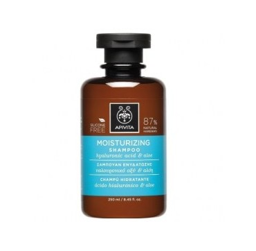 Apivita Moisturizing Shampoo Σαμπουάν Ενυδάτωσης Με Υαλουρονικό Οξύ & Αλόη, 250ml