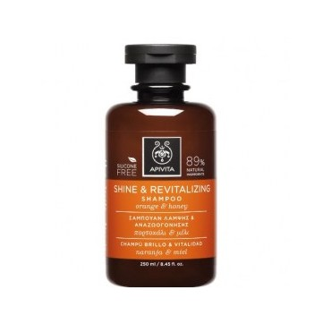 Apivita Shine & Revitalizing Shampoo Σαμπουάν Λάμψης & Αναζωογόνησης Με Πορτοκάλι & Μέλι, 250ml
