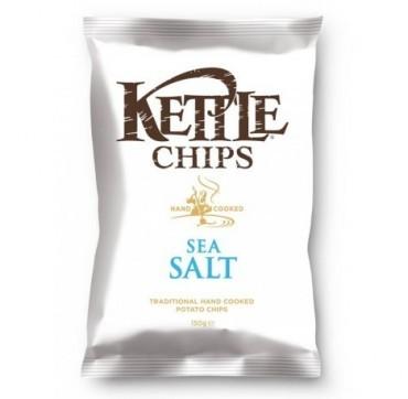 Kettle Chips Sea Salt Πατατάκια Τηγανισμένα Στο Χέρι Με Θαλασσινό Αλάτι 150g