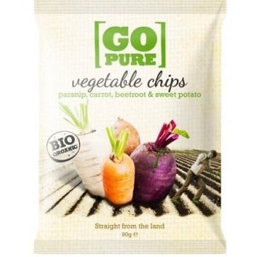 Go Pure Bio Organic Τσιπς Λαχανικών 90g