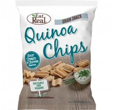 Eat Real Quinoa Sour Cream & Chives (gluten Free & Vegan) 80g