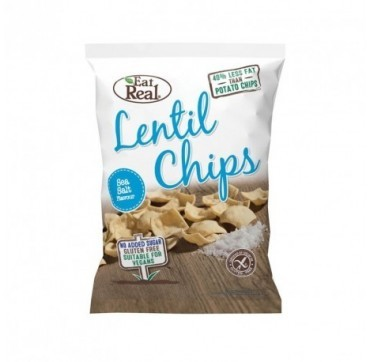 EAT REAL LENTIL CHIPS SEA SALT (GLUTEN FREE & VEGAN) 135g
