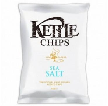 KETTLE CHIPS SEA SALT με θαλασσινό αλάτι 40g