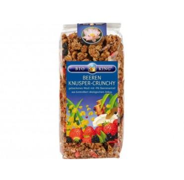 Bioking Beeren Knusper-crunchy Τραγανό Μούσλι Με Κόκκινα Φρούτα 375 G