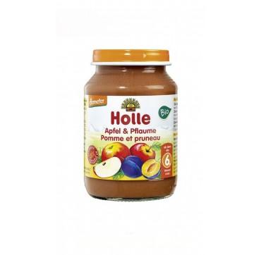 Holle μήλο & δαμάσκηνο από 6 μηνών σε βάζο 190gr