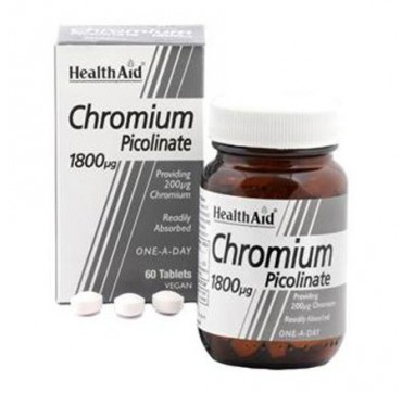 HEALTHAID CHROMIUM PICOLINATE 1800μg 60tabs