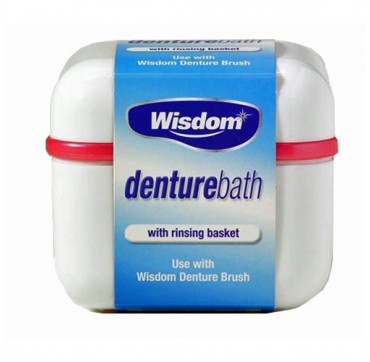 Wisdom Denture Bath, Μπανάκι για τις οδοντοστοιχίες με σχάρα για ασφάλεια και υγιεινή