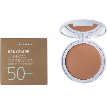 KORRES RED GRAPE COMPACT FOUNDATION AGAINST PHOTOAGEING SPF50+ 8g