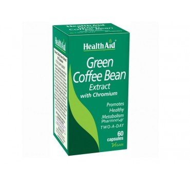 HEALTHAID GREEN COFFEE BEAN EXTRACT WITH CHROMIUM TWO-A-DAY 60CAPS