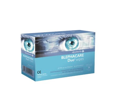 BLEPHACARE DUO WIPES HELENVITA 14 ΜΑΝΤΗΛΑΚΙΑ ΜΙΑΣ ΧΡΗΣΗΣ