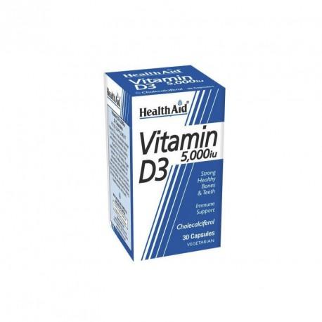 HEALTHAID VIT D3 5000iu. 30CAPS