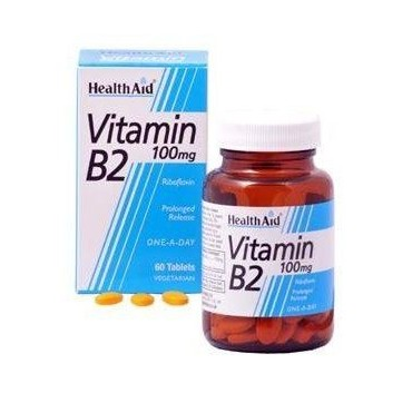 HEALTHAID VITAMIN B2 100MG PROLONGED RELEASE 60TABS