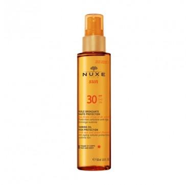 Nuxe Sun Tanning Oil Λάδι Μαυρίσματος Για Πρόσωπο & Σώμα Spf30 150ml