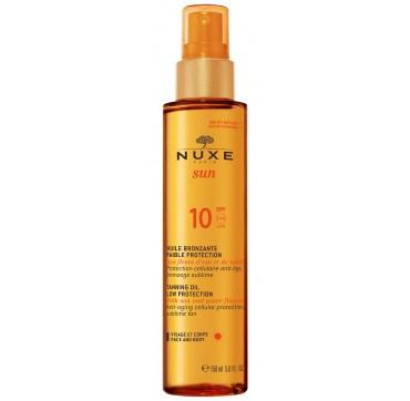 Nuxe SUN tanning oil- Λάδι μαυρίσματος για πρόσωπο & σώμα SPF 10