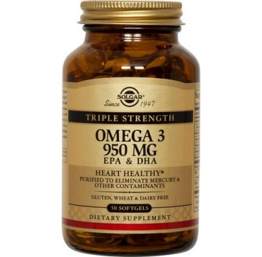 SOLGAR OMEGA-3 TRIPLE STRENGTH 50softgels