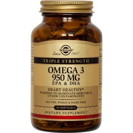 SOLGAR OMEGA-3 TRIPLE STRENGTH 50softgels