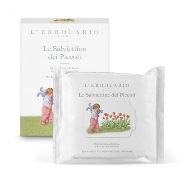 L'ERBOLARIO IL GIARDINO DEI PICCOLI WIPES FOR BABIES-ΥΓΡΑ ΜΑΝΤΗΛΑΚΙΑ ΓΙΑ ΜΩΡΑ 20WIPES