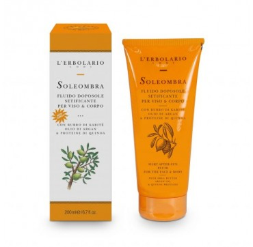 L'ERBOLARIO SOLEOMBRA SILKY AFTER-SUN FLUID FOR THE FACE & BODY 200ML