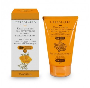 L'ERBOLARIO SUN CREAM WITH EXTRACT OF CALIFORNIAN POPPY FOR FACE & BODY VERY HIGH PROTECTION SPF50+ 125ML