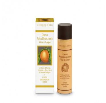 L'erbolario Self-tanning Cream Face And Body 100ml