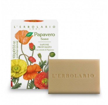 L'ERBOLARIO SWEET POPPY PERFUMED SOAP 100G