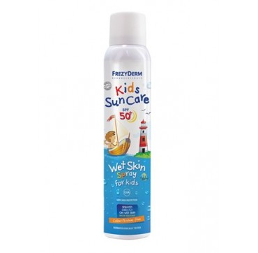 Frezyderm Kids Sun Care Spf50+ Wet Skin Spray Αντηλιακό Spray Για Παιδιά 200ml