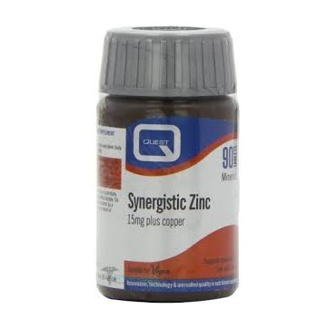 QUEST Synergistic Zinc 15mg With Copper 90Tabs